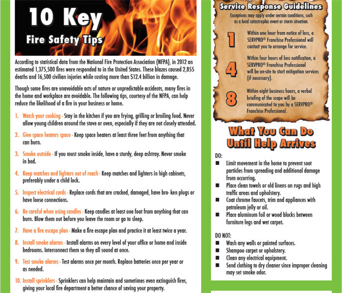 National Fire Prevention Month Servpro Of Johnston County